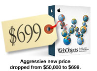 WebObjects - now only $699