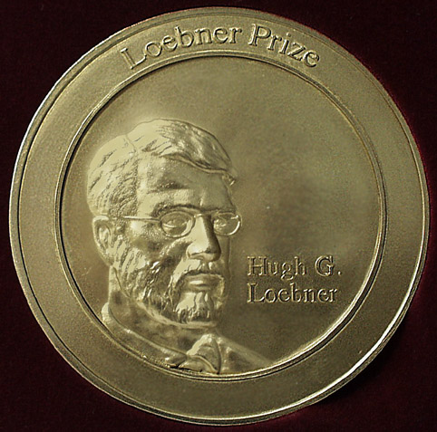 photograph of Loebner side of medal