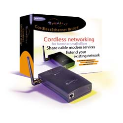 The Symphony Cordless Ethernet Bridge allows you to connect your other computers to the outside world through your existing high speed access method.