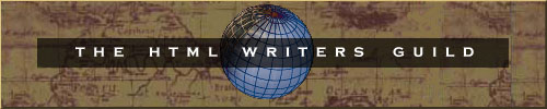 Author is a proud member of the HTML Writers Guild
