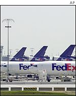 Grounded FedEx planes