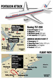Pentagon plane & map -- click for a larger image
