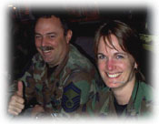 Photo of SMSgt Tim Kesner and Maj. Dawn Deskins courtesy NEADS