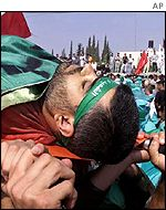 Funeral of Hamas activist Abdel Rahman Hamad, killed by Israeli forces on Sunday