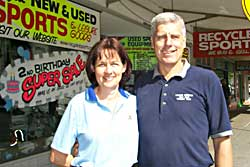 Recycled Sports proprietor Ros and Ian Carrington are celebrating the store's second birthday with discounts and specials throughout August.