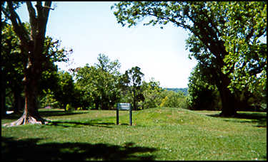 Small Adena mound on the Serpent Mound site