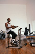 exercise bike, color photo