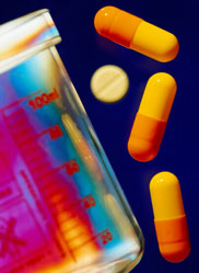 pill bottle, abstract illustration