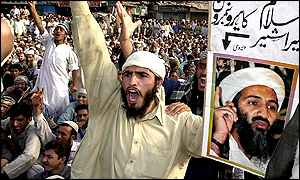 Pro-Taleban protesters in Pakistan