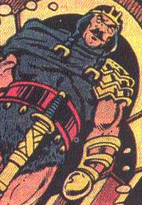 Here's one bitter and seldom-used character:  Tyr, one-handed god of war.  (Image Credit:  THOR: THE LEGEND 1, page 26.  Marvel Comics)