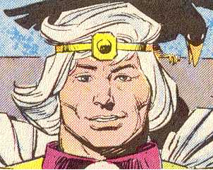 Balder, in accordance with Norse tradition:  bright-eyed, clean-shaven, and fair-haired.  (Image Credit:  THOR 371 v.1, page 3.  Marvel Comics)