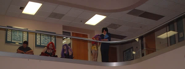 Upper Floor overlooking Anime Express Cosplay floor