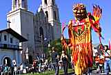 SF Rally photo, big colorful puppet