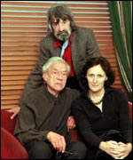 With actors Paul Schofield and Fiona Shaw