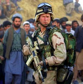 Above: A publicity still from <i>Gulf War II.</i>