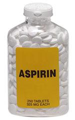 asprin bottle, color photo