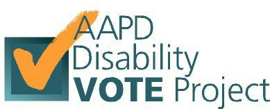 Image Disability Vote Project Logo
