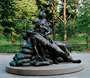 This is an image of the Vietnam Veterans Memorial