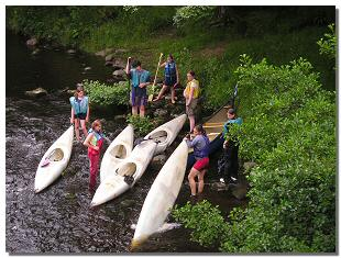 Photograph of canoeists on the River Tees