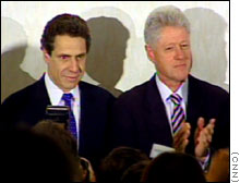 Andrew Cuomo, left, stood with former President Clinton shortly before announcing his withdrawal from the gubernatorial race in New York.