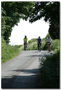 Picture of cyclists on a country road