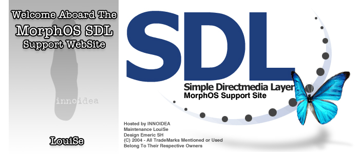 SDL for MorphOS - supported by  i n n o i d e a