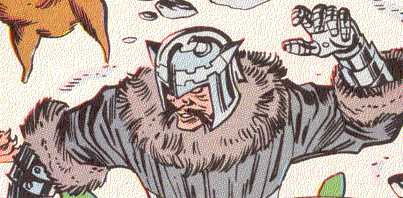 Skoll, the wolf god, takes time off from chasing the sun to pester heroes.  (Image Credit:  THOR 450 v.1, page 10.  Marvel Comics)