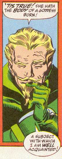 Marvel's creation, Fandrall, shows a Freyr-like demeanor.  (Image Credit:  THOR 450 v.1, page 12.  Marvel Comics)