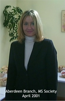 Author J K Rowling, from the opening day of the SRC in Aberdeen during April 2001, Thanks!