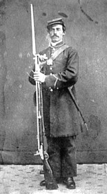 US Soldier with Austrian Rifle
