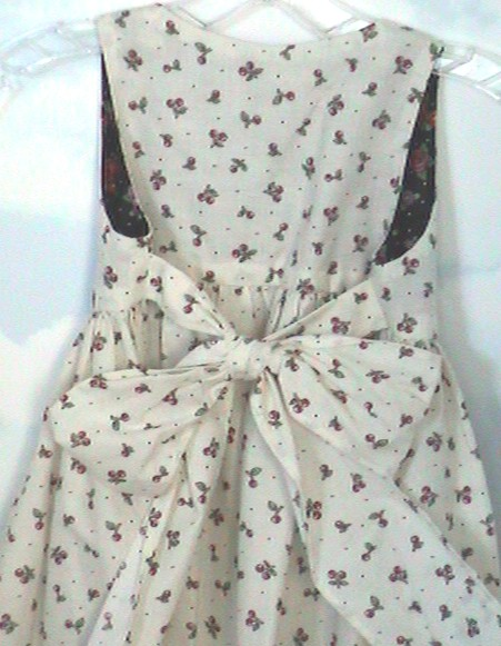 Dress + pinafore back