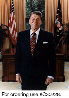 C30228 -- Official Portrait of President Ronald Reagan, 1985.