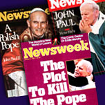 Pope John Paul II--Collection of Past Newsweek Covers