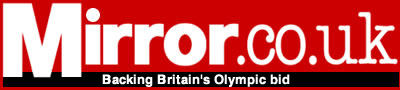 Mirror.co.uk, with the message Backing Britain's Olympic Bid