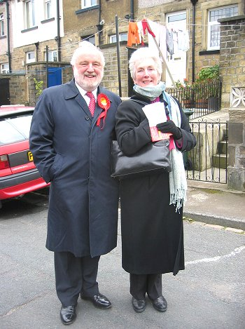 Getting out the Labour vote with Ann Cryer in Keighley'