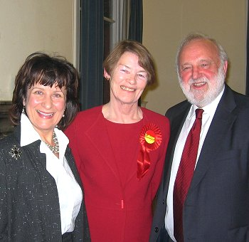 With Glenda Jackson and Helena Kennedy at the Camden campaign launch