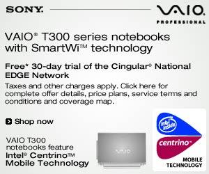 Sony VAIO® T-300 series notebooks