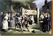 Stocks was a common form of punishment in colonial America.