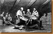 A sketch of starving men on the Jersey