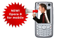 New! Opera 8 for mobile