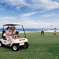 Golf by the ocean