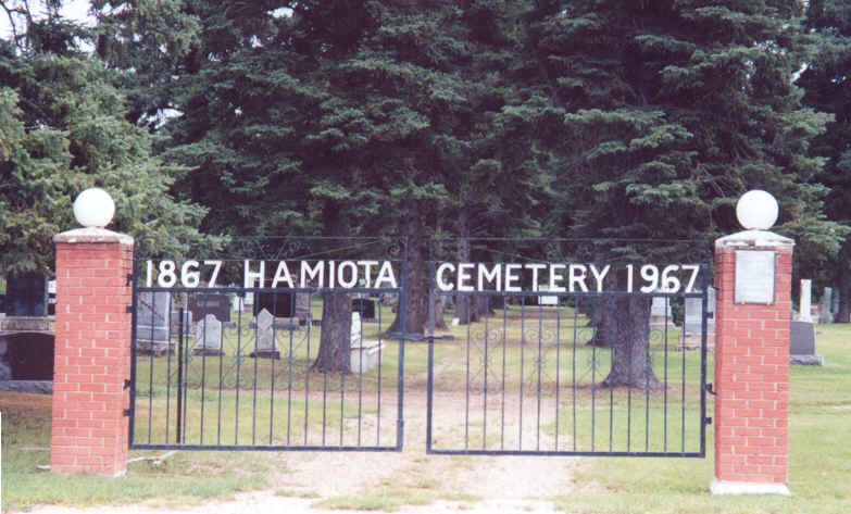 Gate to Hamiota Cemetery