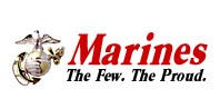 Marines, The Few, the Proud graphic.  NOTE: Following this graphic link are some Javascript dropdown menus which can not be read by browsers designed for disabilities.  The alternative for these dropdown menus is the text only sitemap page at http://www.usmc.mil/sitemap