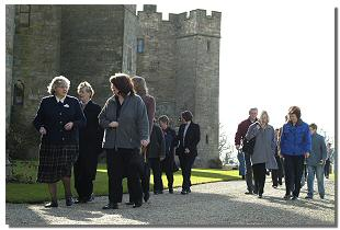 Visitors to Raby Castle
