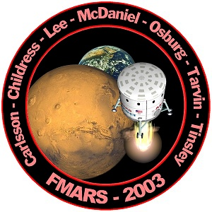 FMARS 2003 Mission Patch designed by R.D.'Gus' Frederick - Click for larger image