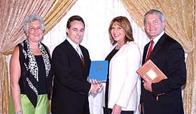 Mary Story from the Church of Scientology, Brett Miller from the Clearwater Businessman's Association, Republican State Committee woman Nancy Riley and Congressman Mark Foley