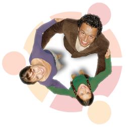A picture of the Circle-of-Friends Ubuntu login screen.
