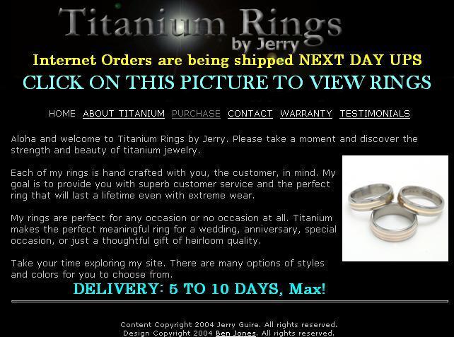 Titanium Rings by Jerry Titanium Rings Pictures