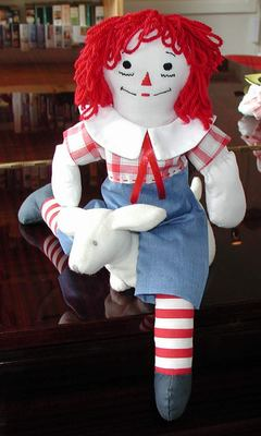 Raggedy Andy outfit designed by Susan Kramer