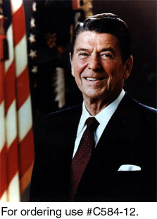 C584-12 -- Official Portrait of President Ronald Reagan, 1981.